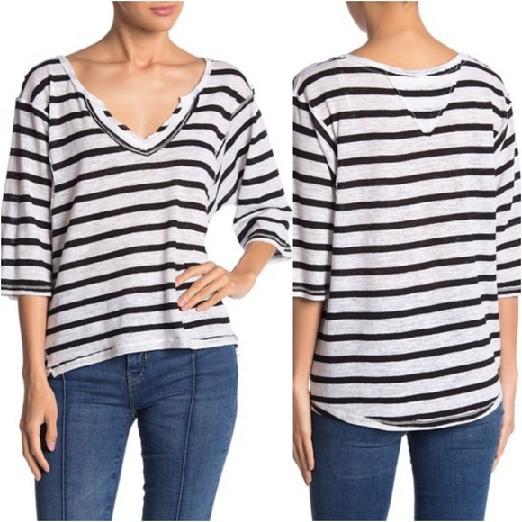 NWT Free People Head in the Clouds Stripe Tee